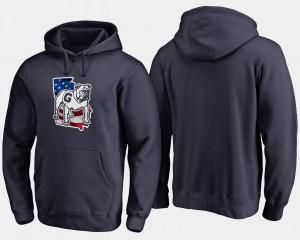 Georgia Bulldogs Hoodie Big & Tall Banner State Navy Mens