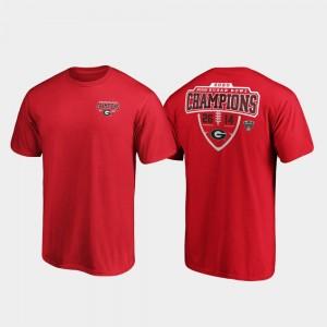 Georgia Bulldogs T-Shirt 2020 Sugar Bowl Champions Red Hometown Lateral Men