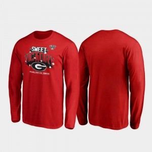 Georgia Bulldogs T-Shirt Receiver Long Sleeve For Men's 2020 Sugar Bowl Champions Red