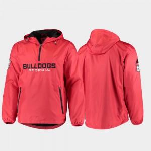 Georgia Bulldogs Jacket Base Runner Red Half-Zip Men's