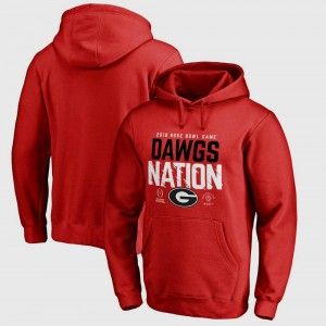 Georgia Bulldogs Hoodie For Men Bowl Game Red College Football Playoff 2018 Rose Bowl Bound Delay