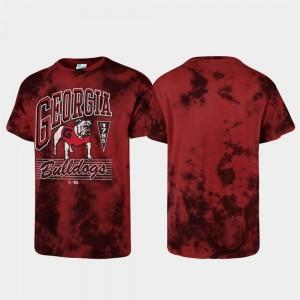 Georgia Bulldogs T-Shirt For Men's Red Tubular Tie Dye