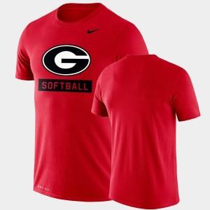 Georgia Bulldogs T-Shirt Performance Softball Men's Red Drop Legend