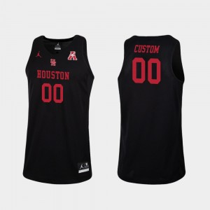 Houston Cougars Customized Jerseys College Basketball #00 Black Replica Men's