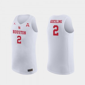 Houston Cougars Landon Goesling Jersey College Basketball White #2 Replica For Men