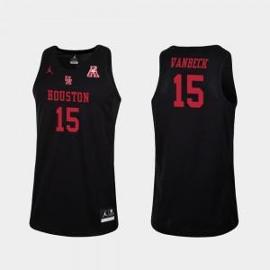 Houston Cougars Neil VanBeck Jersey For Men's College Basketball #15 Black Replica