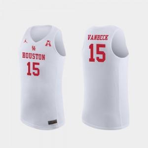 Houston Cougars Neil VanBeck Jersey #15 Replica For Men White College Basketball
