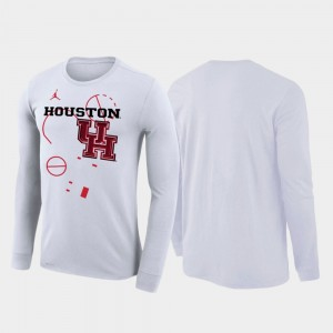 Houston Cougars T-Shirt For Men 2020 March Madness Our Time Bench Legend White