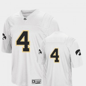 Iowa Hawkeyes Jersey For Men's Colosseum Authentic College Football #4 White