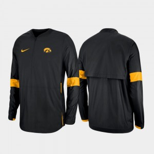 Iowa Hawkeyes Jacket Men's Quarter-Zip 2019 Coaches Sideline Black
