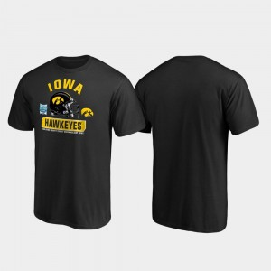 Iowa Hawkeyes T-Shirt For Men's Spike Black 2019 Holiday Bowl Bound