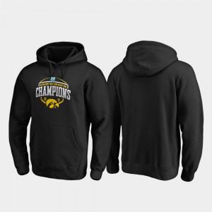 Iowa Hawkeyes Hoodie For Men 2019 Holiday Bowl Champions Black Corner