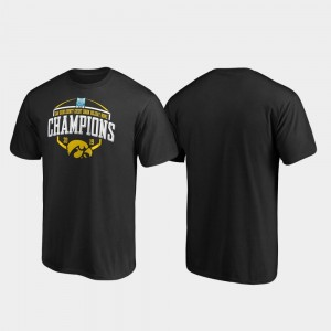 Iowa Hawkeyes T-Shirt 2019 Holiday Bowl Champions For Men's Corner Black