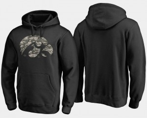 Iowa Hawkeyes Hoodie Mens Black Camo Cloak Big & Tall