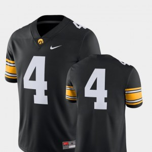 Iowa Hawkeyes Jersey For Men Black #4 College Football 2018 Game