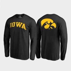 Iowa Hawkeyes T-Shirt Long Sleeve Primetime Black Mens