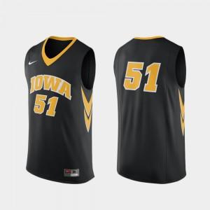 Iowa Hawkeyes Jersey College Basketball #51 Replica Black For Men