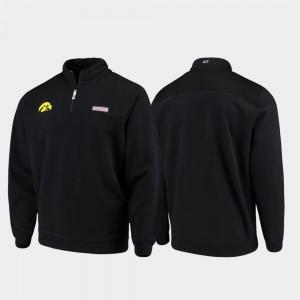 Iowa Hawkeyes Jacket Shep Shirt For Men Black Quarter-Zip