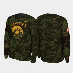 Iowa Hawkeyes T-Shirt Camo Legend Long Sleeve Mens 2019 Veterans Day