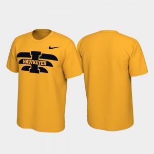 Iowa Hawkeyes T-Shirt Alternate Jersey Performance Mens Gold