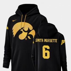 Iowa Hawkeyes Ihmir Smith-Marsette Hoodie Black #6 Men Football Performance Champ Drive