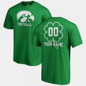 Iowa Hawkeyes Custom T-Shirts Fanatics Big & Tall Dubliner Mens Kelly Green St. Patrick's Day #00
