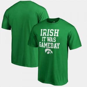 Iowa Hawkeyes T-Shirt Irish It Was Gameday Kelly Green St. Patrick's Day Men's