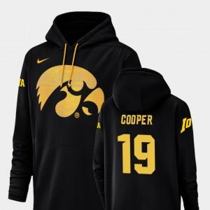 Iowa Hawkeyes Max Cooper Hoodie For Men Black Champ Drive #19 Football Performance