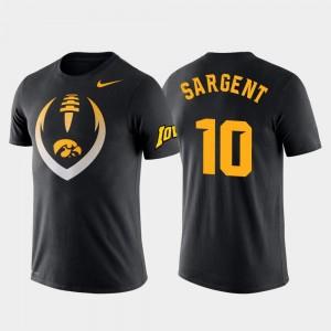 Iowa Hawkeyes Mekhi Sargent T-Shirt Football Icon Men Performance #10 Black