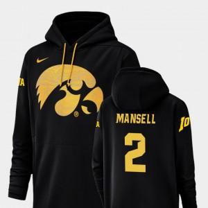 Iowa Hawkeyes Peyton Mansell Hoodie #2 Football Performance Men Champ Drive Black