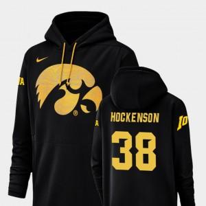 Iowa Hawkeyes T.J. Hockenson Hoodie Black Football Performance #38 Champ Drive For Men's