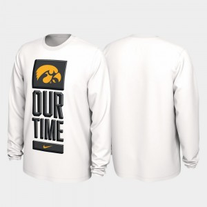 Iowa Hawkeyes T-Shirt 2020 March Madness White Our Time Bench Legend For Men