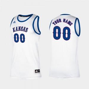 Kansas Jayhawks Custom Jerseys For Men College Basketball #00 Classic White