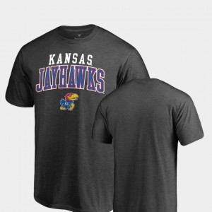Kansas Jayhawks T-Shirt Square Up For Men's Heathered Charcoal