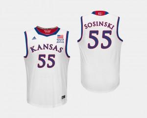 Kansas Jayhawks James Sosinski Jersey College Basketball #55 Men White