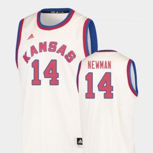 Kansas Jayhawks Malik Newman Jersey College Basketball Cream #14 Men Hardwood Classics