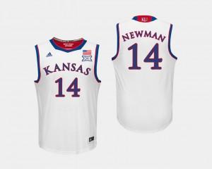 Kansas Jayhawks Malik Newman Jersey For Men's #14 College Basketball White