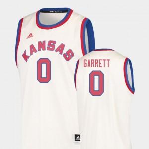 Kansas Jayhawks Marcus Garrett Jersey College Basketball Cream Mens #0 Hardwood Classics