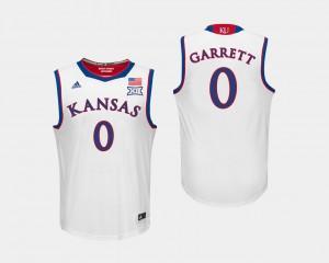 Kansas Jayhawks Marcus Garrett Jersey College Basketball White #0 For Men's