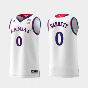 Kansas Jayhawks Marcus Garrett Jersey Mens #0 Replica White Swingman College Basketball