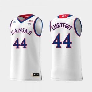 Kansas Jayhawks Mitch Lightfoot Jersey Men's #44 White Replica Swingman College Basketball