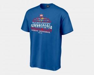 Kansas Jayhawks T-Shirt Mens Basketball Conference Tournament 2018 Big 12 Champions Locker Room Royal