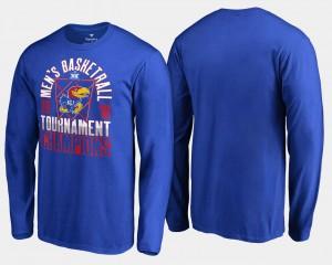 Kansas Jayhawks T-Shirt Royal Basketball Conference Tournament Men's 2018 Big 12 Champions Long Sleeve