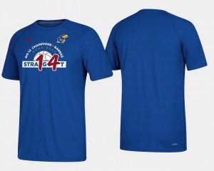 Kansas Jayhawks T-Shirt Royal Men 2018 Big 12 Champions 14 Straight Basketball Regular Season