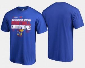 Kansas Jayhawks T-Shirt Basketball Regular Season For Men's 2018 Big 12 Champions Royal