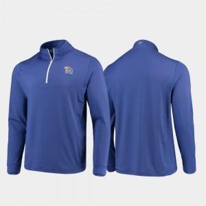 Kansas Jayhawks Jacket For Men's Gameday Royal Quarter-Zip Performance