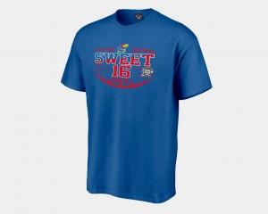 Kansas Jayhawks T-Shirt Sweet 16 Bound Royal Men 2018 March Madness Basketball Tournament