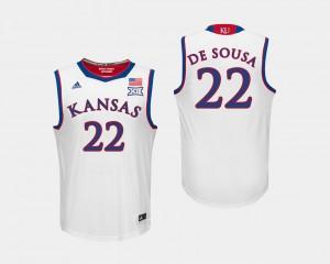 Kansas Jayhawks Silvio De Sousa Jersey For Men's College Basketball White #22