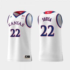 Kansas Jayhawks Silvio De Sousa Jersey For Men Replica #22 Swingman College Basketball White