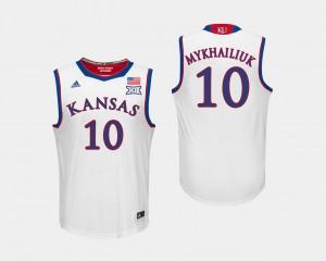 Kansas Jayhawks Sviatoslav Mykhailiuk Jersey #10 Men's White College Basketball